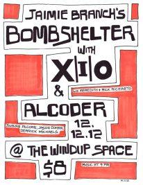 12/12/12 | Windup Space | X|i|O, Bombshelter, Alcoder