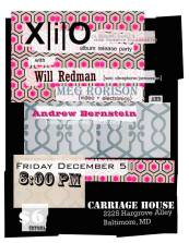 12/5/14 | Carriage House | X|i|O, Will Redman, Andrew Bernstein